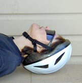 Helmet on wrong hurts neck