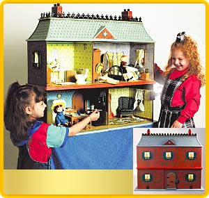 Amazon.com: Handmade Open Wooden Doll House: Toys & Games