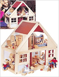 HearthSong:: Fully Furnished Dollhouse (Doll Houses & Furnishings)