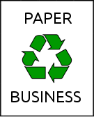 Paper Recycling Business Sign